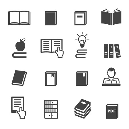 reading books: book icons