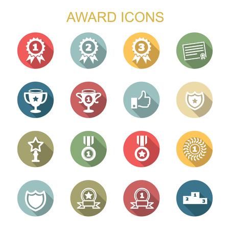 award long shadow icons