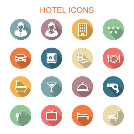 pool symbol: hotel long shadow icons Illustration