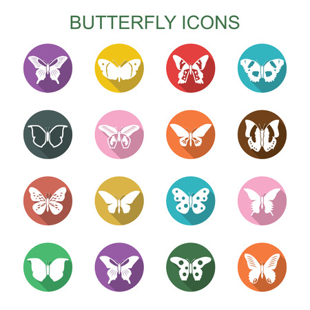 mormon: butterfly long shadow icons Illustration