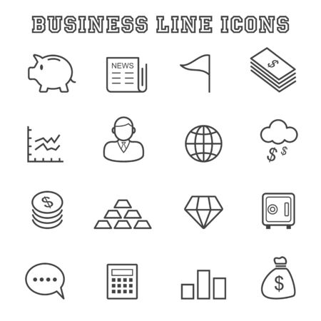 business line icons Vector