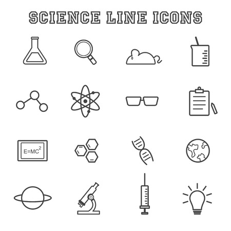 science line icons Vector