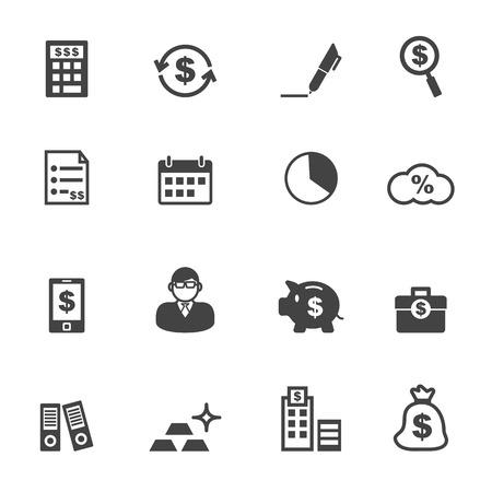 accounting logo: accounting icons, mono vector icons