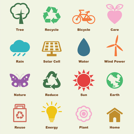 logo ecology: environment elements, vector infographic icons