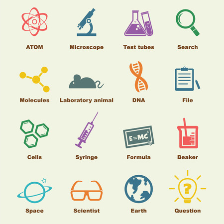 science elements, vector infographic icons
