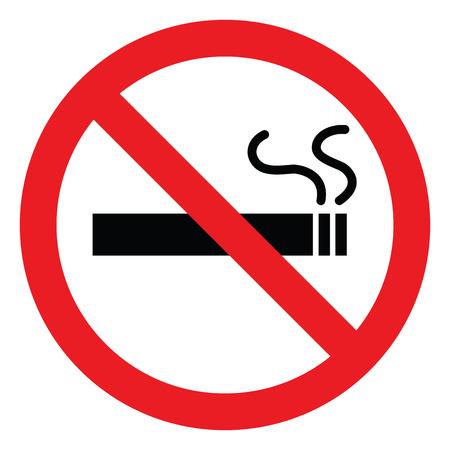 Brak symbolu palenia, wektorowe ikony
