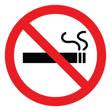 abstain: no smoking symbol, vector icons