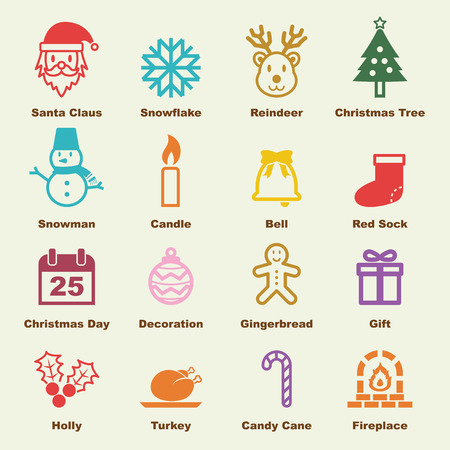 christmas cookie: christmas elements, vector infographic icons Illustration