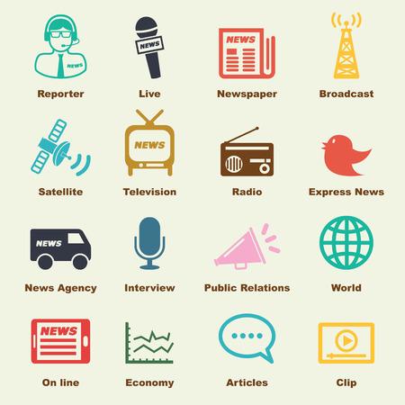 ニュース要素ベクトルのインフォ グラフィック アイコン  イラスト・ベクター素材