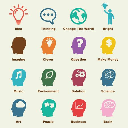 idea icon: idea elements, vector infographic elements