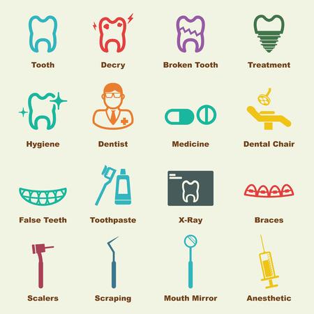 歯科の要素のベクトルのインフォ グラフィック アイコン  イラスト・ベクター素材