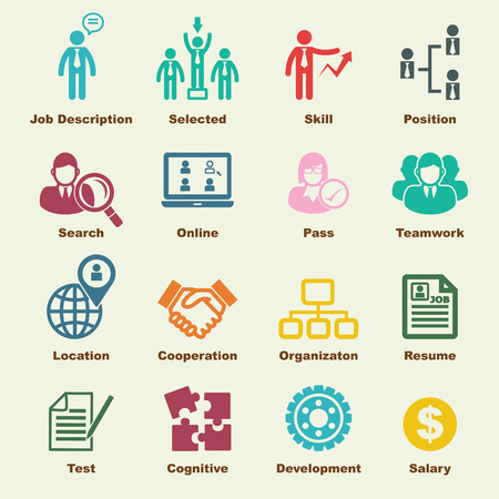 human resources elements, vector infographic icons