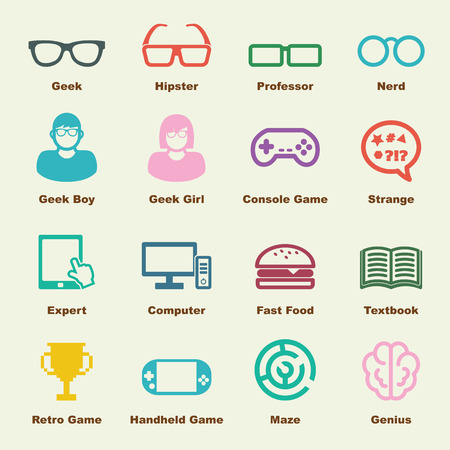geek: geek elements, vector infographic icons