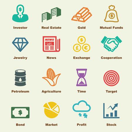 investering elementen, vector infographic iconen
