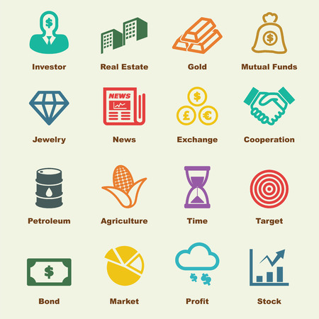 money exchange: investment elements, vector infographic icons