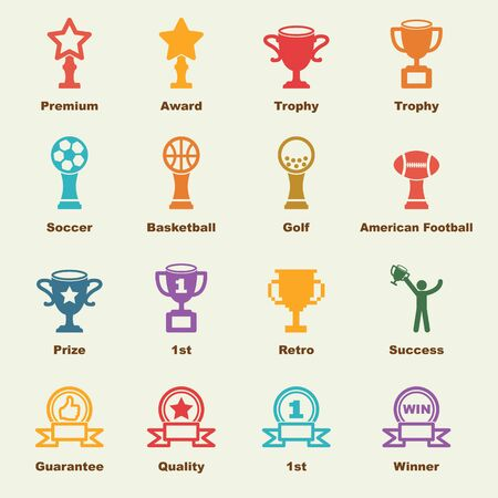 medal like: trophy elements, vector infographic icons