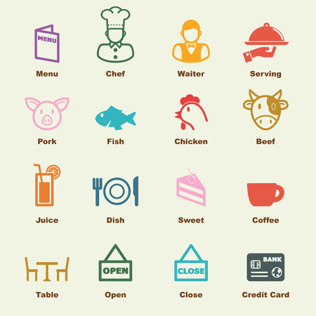 chef knife: restaurant elements, vector infographic icons