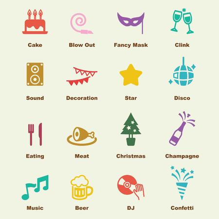 partij elementen, vector infographic iconen