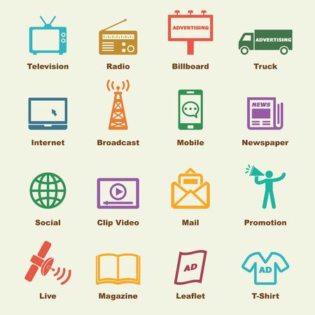 icone: elementi di pubblicità