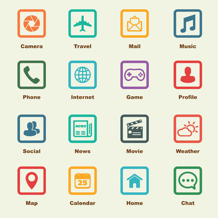 travel phone: application elements, vector infographic icons