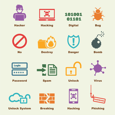 cyber crime: hacker elements