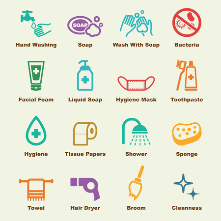 toalla: elementos de higiene