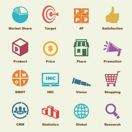 marketing elements  イラスト・ベクター素材