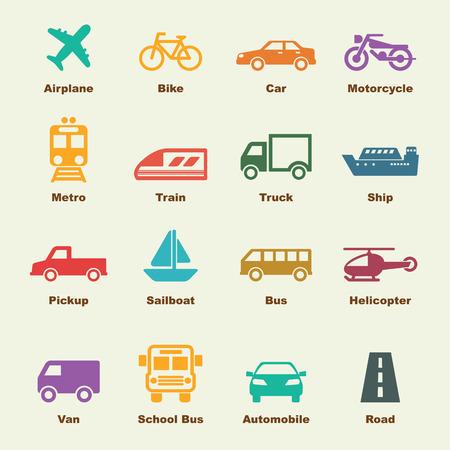 運輸: 交通元素 向量圖像