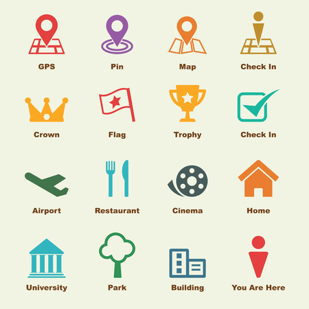 check in: check in elements, vector infographic icons