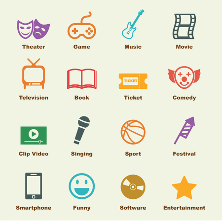 entertainment: entertainment elements, vector infographic icons