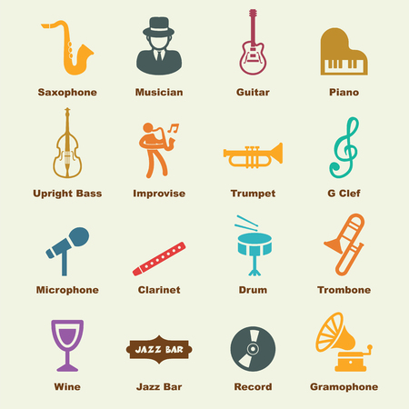 jazz elements, vector infographic icons