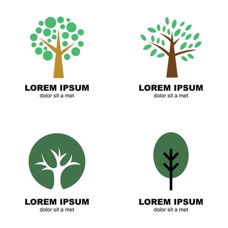 나무 로고, 벡터 디자인 기호