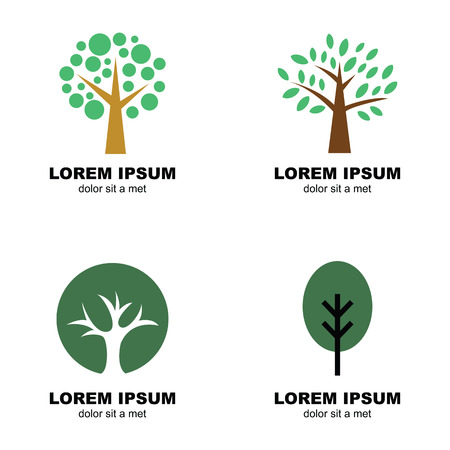 tree of life silhouette: tree logo, vector design symbols