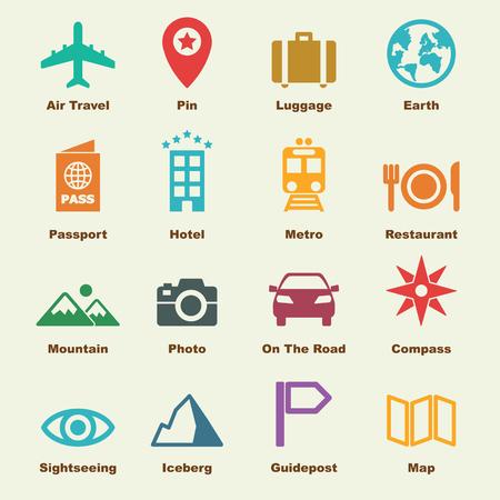 journey: journey elements, vector infographic icons
