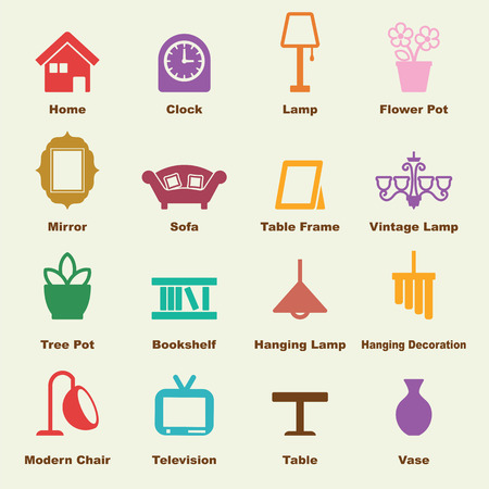 home decoration: home decoration, vector infographic icons