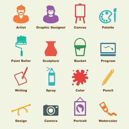 graphic artist: art elements, vector infographic icons