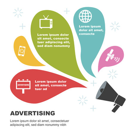 Radio: advertising infographic templates, vector illustration