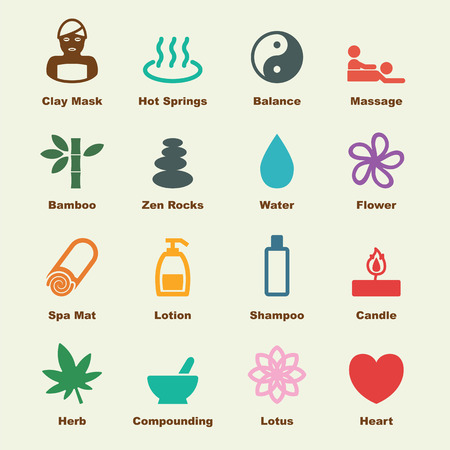 zen: spa elements, vector infographic icons