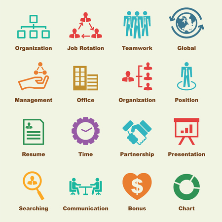 organization elements, vector infographic icons