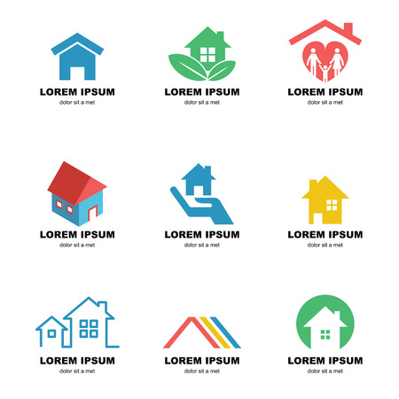residences: home logo, vector elements design