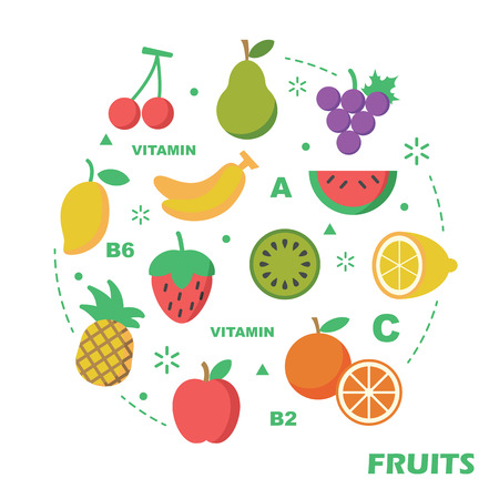 limón: fruit flat design, vector elements Vectores