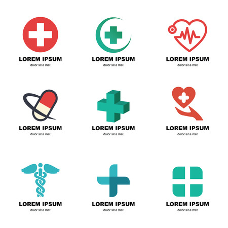 medical logo, vector elements design Vectores