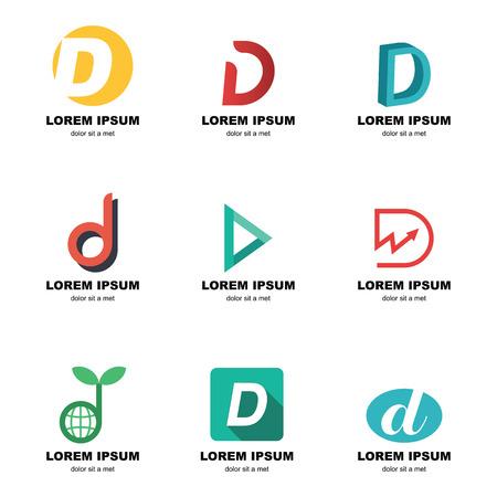 d: alphabet d logo, vector elements design Illustration