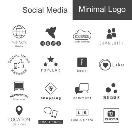 social icon: social media minimal designs