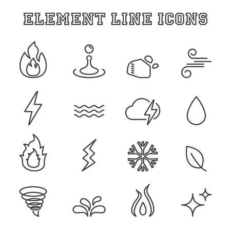 waft: element line icons, mono vector symbols