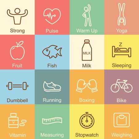 sleeping pills: healthy outline design, vector infographic elements