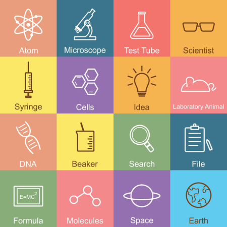 science outline design, vector infographic elements