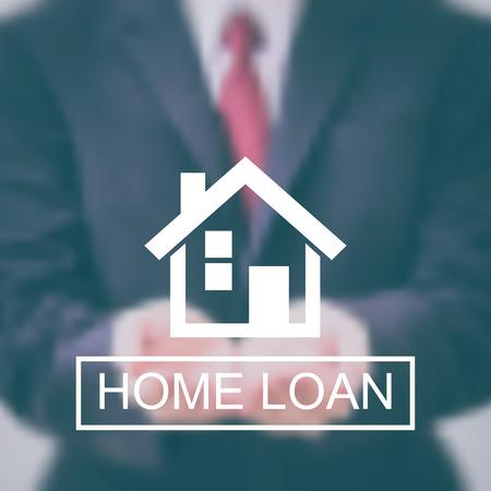 Pożyczka z domu logo wektora niewyraźne tło