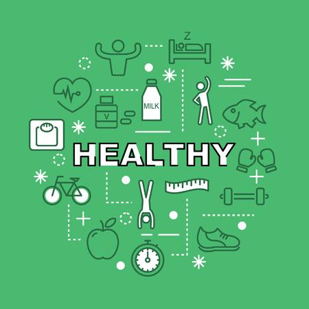 gezonde minimale overzichtspictogrammen, pictogramreeks
