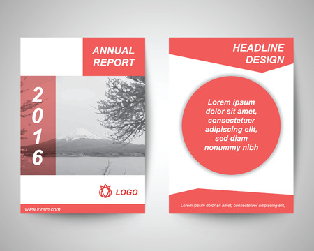 fuji mountain: fuji mountain annual report abstract flyer layout template, brochure background, leaflet with cover, vector design in a4 size for business